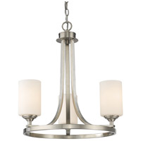 Z-Lite Bordeaux 3 Light Chandelier in Brushed Nickel 435-3BN
