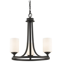 Z-Lite Bordeaux 3 Light Chandelier in Bronze 435-3BRZ