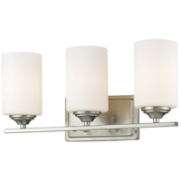 Z-Lite 435-3V-BN Bordeaux 3 Light 17 inch Brushed Nickel Vanity Wall Light