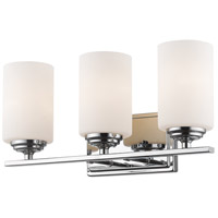 Bordeaux 3 Light 17 inch Chrome Vanity Light Wall Light