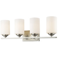 Z-Lite 435-4V-BN Bordeaux 4 Light 24 inch Brushed Nickel Vanity Wall Light