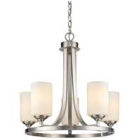 Bordeaux 5 Light 22 inch Brushed Nickel Chandelier Ceiling Light