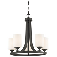 Bordeaux 5 Light 22 inch Bronze Chandelier Ceiling Light