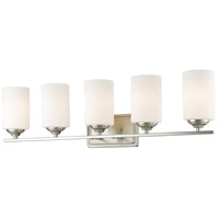Z-Lite 435-5V-BN Bordeaux 5 Light 31 inch Brushed Nickel Vanity Wall Light
