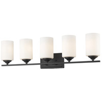 Z-Lite 435-5V-BRZ Bordeaux 5 Light 31 inch Bronze Vanity Wall Light