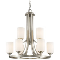 Bordeaux 9 Light 26 inch Brushed Nickel Chandelier Ceiling Light