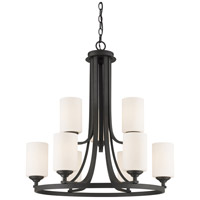 Z-Lite Bordeaux 9 Light Chandelier in Bronze 435-9BRZ