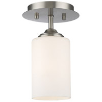 Z-Lite Bordeaux 1 Light Flush Mount in Brushed Nickel 435F1-BN