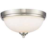Z-Lite 435F2-BN Bordeaux 2 Light 13 inch Brushed Nickel Flush Mount Ceiling Light