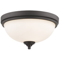 Z-Lite 435F2-BRZ Bordeaux 2 Light 13 inch Bronze Flush Mount Ceiling Light