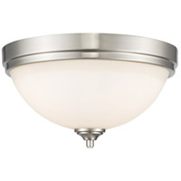 Z-Lite 435F3-BN Bordeaux 3 Light 15 inch Brushed Nickel Flush Mount Ceiling Light