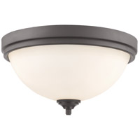 Z-Lite 435F3-BRZ Bordeaux 3 Light 15 inch Bronze Flush Mount Ceiling Light