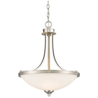 Z-Lite Bordeaux 3 Light Pendant in Brushed Nickel 435P-BN