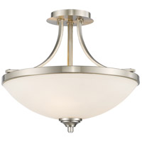 Z-Lite 435SF-BN Bordeaux 3 Light 17 inch Brushed Nickel Semi Flush Mount Ceiling Light