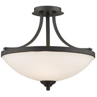 Z-Lite 435SF-BRZ Bordeaux 3 Light 17 inch Bronze Semi Flush Mount Ceiling Light