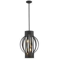 Z-Lite 436-16BRZ Moundou 4 Light 16 inch Bronze Pendant Ceiling Light