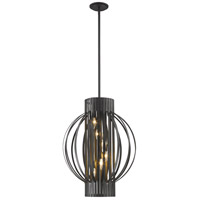 Z-Lite 436-20BRZ Moundou 6 Light 20 inch Bronze Pendant Ceiling Light