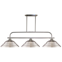 Z-Lite 437-3BN-SBN Annora 3 Light 54 inch Brushed Nickel Island Light Ceiling Light in Stepped Brushed Nickel, 15.75