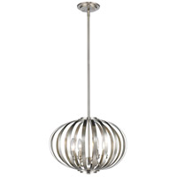 Moundou 4 Light 15 inch Brushed Nickel Pendant Ceiling Light in 16
