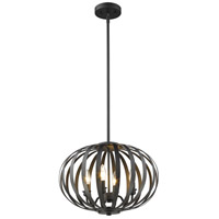 Z-Lite 438-16BRZ Moundou 4 Light 15 inch Bronze Pendant Ceiling Light in 16