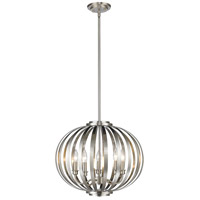 Z-Lite 438-20BN Moundou 5 Light 20 inch Brushed Nickel Pendant Ceiling Light