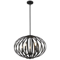 Z-Lite 438-20BRZ Moundou 5 Light 20 inch Bronze Pendant Ceiling Light
