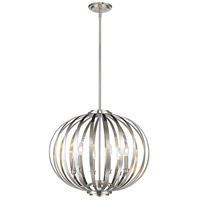 Z-Lite 438-24BN Moundou 6 Light 24 inch Brushed Nickel Pendant Ceiling Light