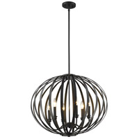 Z-Lite 438-24BRZ Moundou 6 Light 24 inch Bronze Pendant Ceiling Light