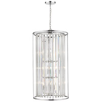 Z-Lite 439-12CH Monarch 12 Light 20 inch Chrome Chandelier Ceiling Light