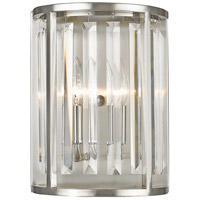 Z-Lite Monarch 2 Light Wall Sconce in Brushed Nickel 439-2S-BN