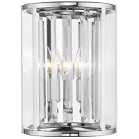 Z-Lite 439-2S-CH Monarch 2 Light 9 inch Chrome Wall Sconce Wall Light