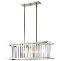 Z-Lite 439-32BN Monarch 5 Light 32 inch Brushed Nickel Island Light Ceiling Light in 12