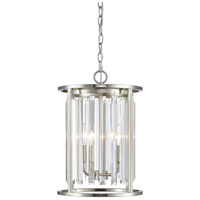 Z-Lite 439-3BN Monarch 3 Light 12 inch Brushed Nickel Chandelier Ceiling Light