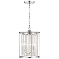 Z-Lite 439-3CH Monarch 3 Light 12 inch Chrome Chandelier Ceiling Light