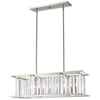 Z-Lite Monarch 6 Light Pendant in Brushed Nickel 439-40BN