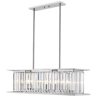 Z-Lite 439-40CH Monarch 6 Light 40 inch Chrome Chandelier Ceiling Light