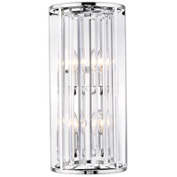 Z-Lite 439-4S-CH Monarch 4 Light 10 inch Chrome Wall Sconce Wall Light