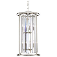 Monarch 8 Light 17 inch Brushed Nickel Chandelier Ceiling Light