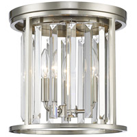 Z-Lite 439F12-BN Monarch 3 Light 12 inch Brushed Nickel Flush Mount Ceiling Light in 8.1
