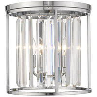 Z-Lite 439F14-CH Monarch 3 Light 14 inch Chrome Flush Mount Ceiling Light