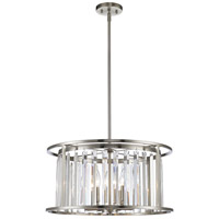 Z-Lite Monarch 6 Light Pendant in Brushed Nickel 439P-BN