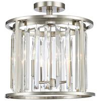 Z-Lite 439SF14-BN Monarch 3 Light 14 inch Brushed Nickel Semi Flush Mount Ceiling Light