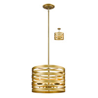 Memphis 3 Light 16 inch Satin Gold Pendant Ceiling Light