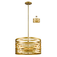 Memphis 5 Light 20 inch Satin Gold Pendant Ceiling Light