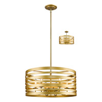 Memphis 6 Light 24 inch Satin Gold Pendant Ceiling Light