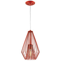 Z-Lite 442MP-RD Quintus 1 Light 9 inch Red Mini Pendant Ceiling Light
