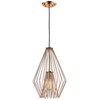 Quintus 1 Light 12 inch Copper Mini Pendant Ceiling Light