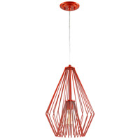 Z-Lite 442MP12-RD Quintus 1 Light 12 inch Red Mini Pendant Ceiling Light in 12.00