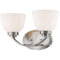 Z-Lite 443-2V-BN Ashton 2 Light 15 inch Brushed Nickel Vanity Wall Light
