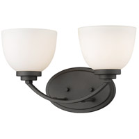 Z-Lite 443-2V-BRZ Ashton 2 Light 15 inch Bronze Vanity Wall Light